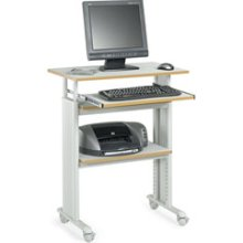 Safco Products 1929GR Adjustable Stand Up Computer Desk - Grey